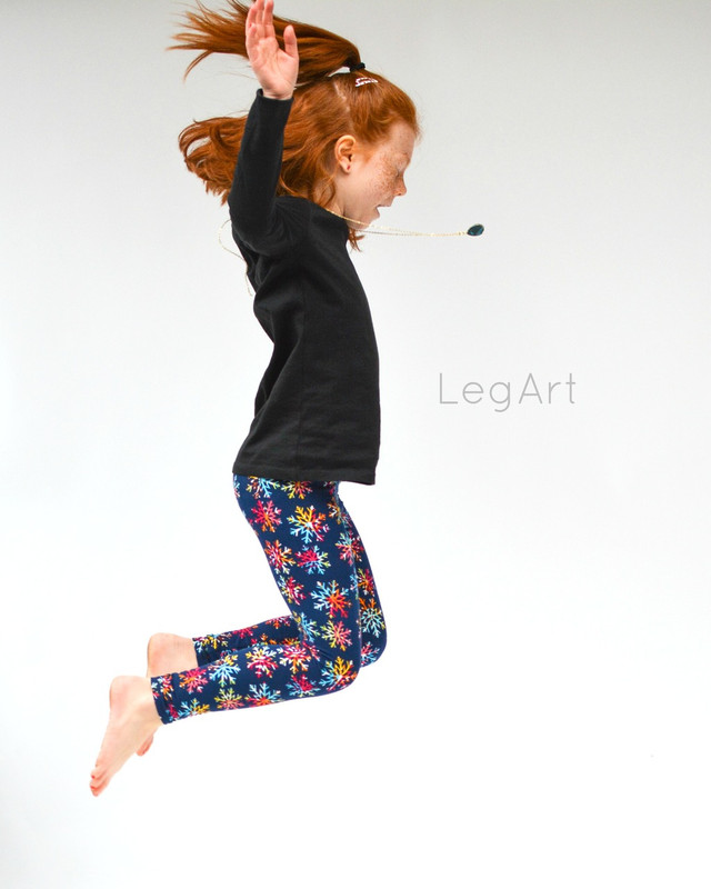 Rainbow Flakes Children's leggings