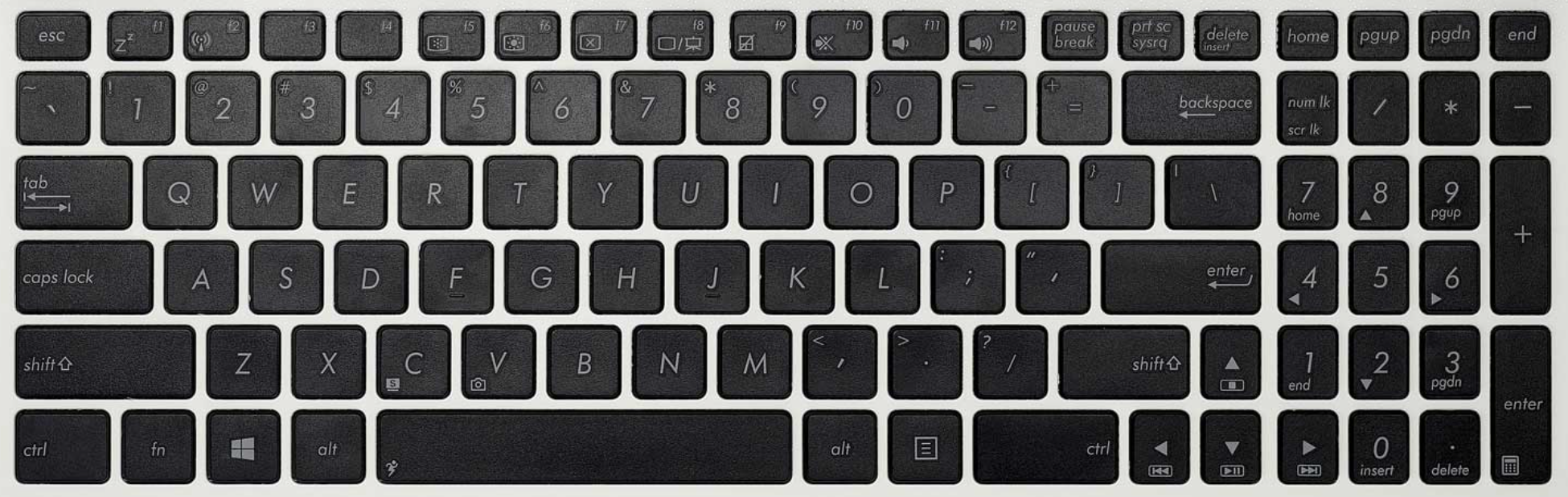 Asus S550X keyboard key replacement