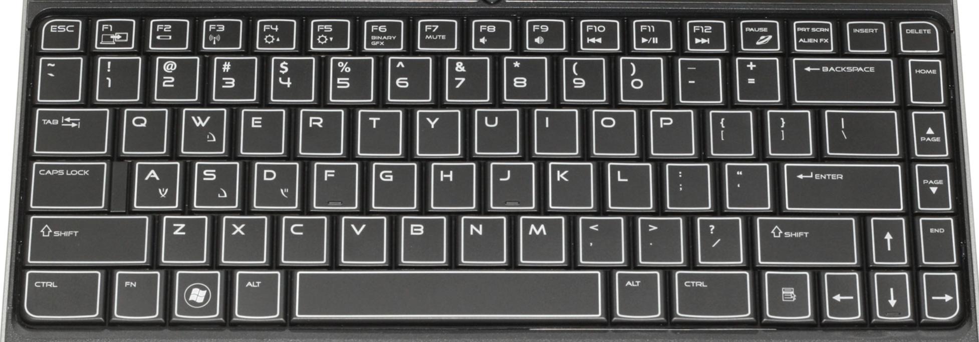 dell m11x laptop keyboard keys