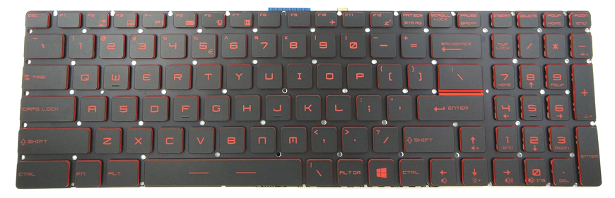 MSI GF65 Replacement Laptop Keyboard Keys