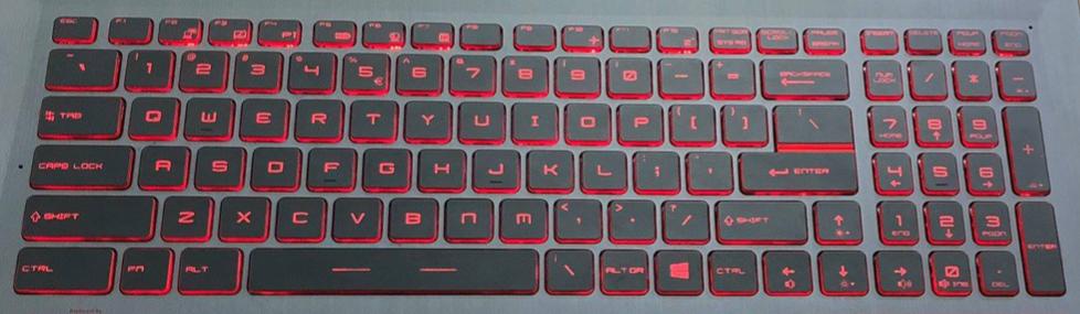 MSI GV62 Replacement Laptop Keyboard Keys