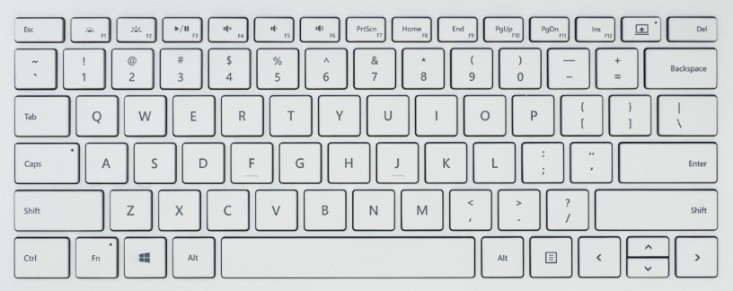 layout of the surface 1 keyboard key replacement
