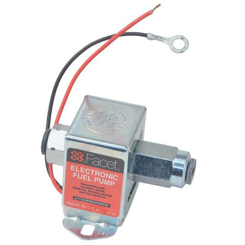 40185 Facet Cube Solid State Fuel Pump, 12 Volt, 9.0-11.5 PSI, 32 GPH