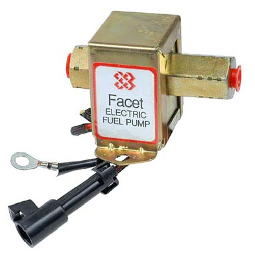 40231 Facet Cube Solid State Fuel Pump, 12 Volt, 9.0-11.5 PSI, 25 GPH