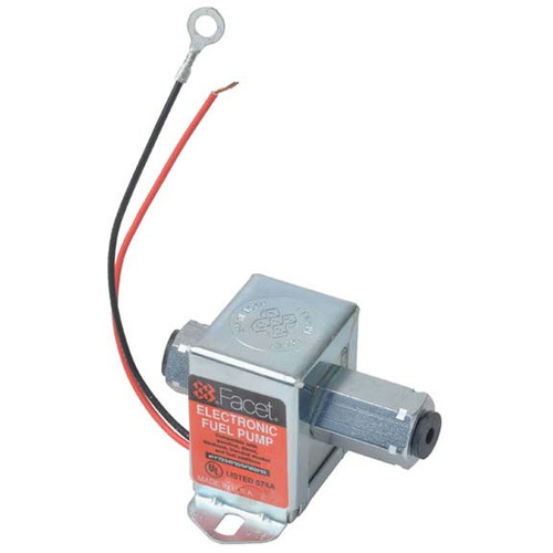 40176 Facet Cube Solid State Fuel Pump, 12 Volt, 3.5-5.0 PSI, 19 GPH