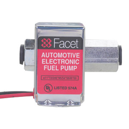 40313 Facet Solid State Cube Fuel Pump, 12 Volt, 12.0-15.0 PSI, 50 GPH