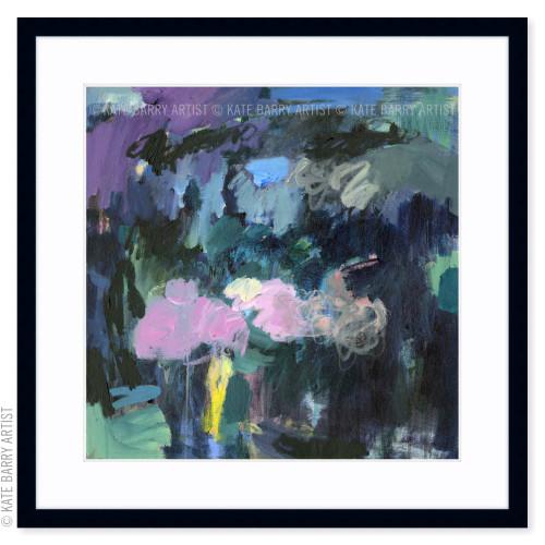 Still Beneath limited edition art print | Black | Kate Barry Artist dark blues