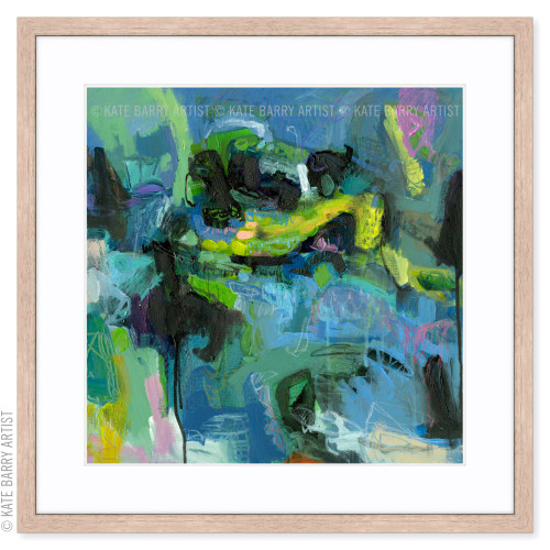 Ebb and Surge limited edition art print   Natural   Kate Barry Artist bright greens and blues