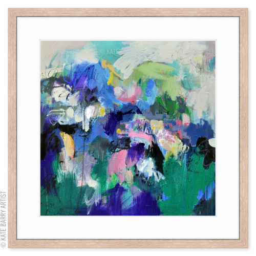 Deflection limited edition art print | Natural | Kate Barry Artist bright colours, paint drips
