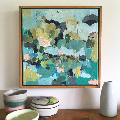 Flock   Acrylic on canvas by Kate Barry