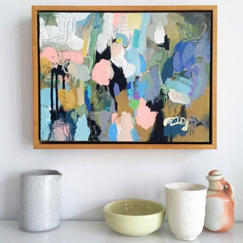 Kate Barry Artist | Blue Heart | 26 cm x 33 cm | Acrylic on canvas