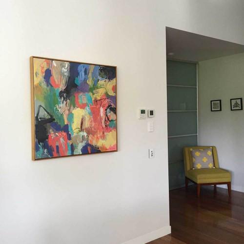 Kate Barry Artist | First Spring |  104 cm x  104 cm | Acrylic on canvas