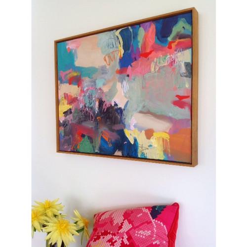 Kate Barry Artist   Party Lips    64 cm x  850 cm   Acrylic on canvas