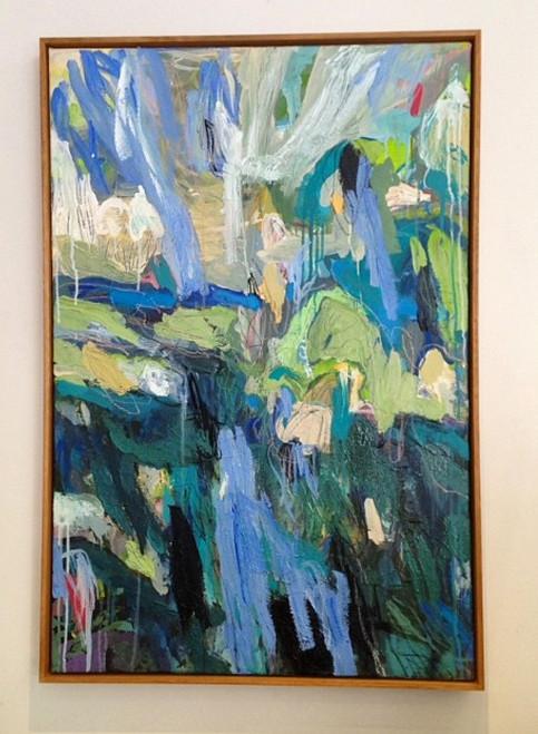 Kate Barry Artist   Blue Gums    100 cm x  60 cm   Acrylic on canvas