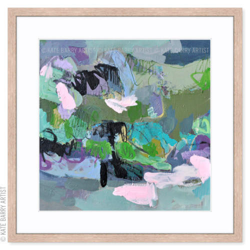 Refraction limited edition art print | Natural | Kate Barry Artist purple and green, paint drips