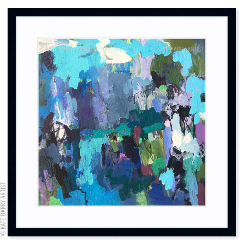 Camouflage limited edition art print | Black | Kate Barry Artist bright colours, paint drips