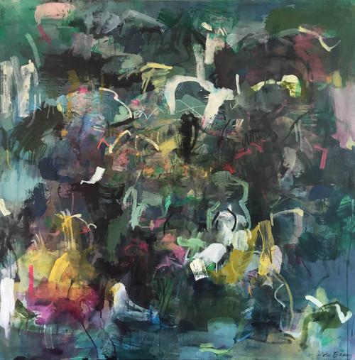 Bird | 125 cm x 125 cm | Framed | Acrylic and water based oil on canvas