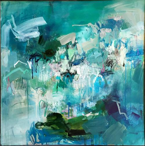 Seasons  | 84 cm x 84 cm | Framed | Oil, acrylic and pastel on board