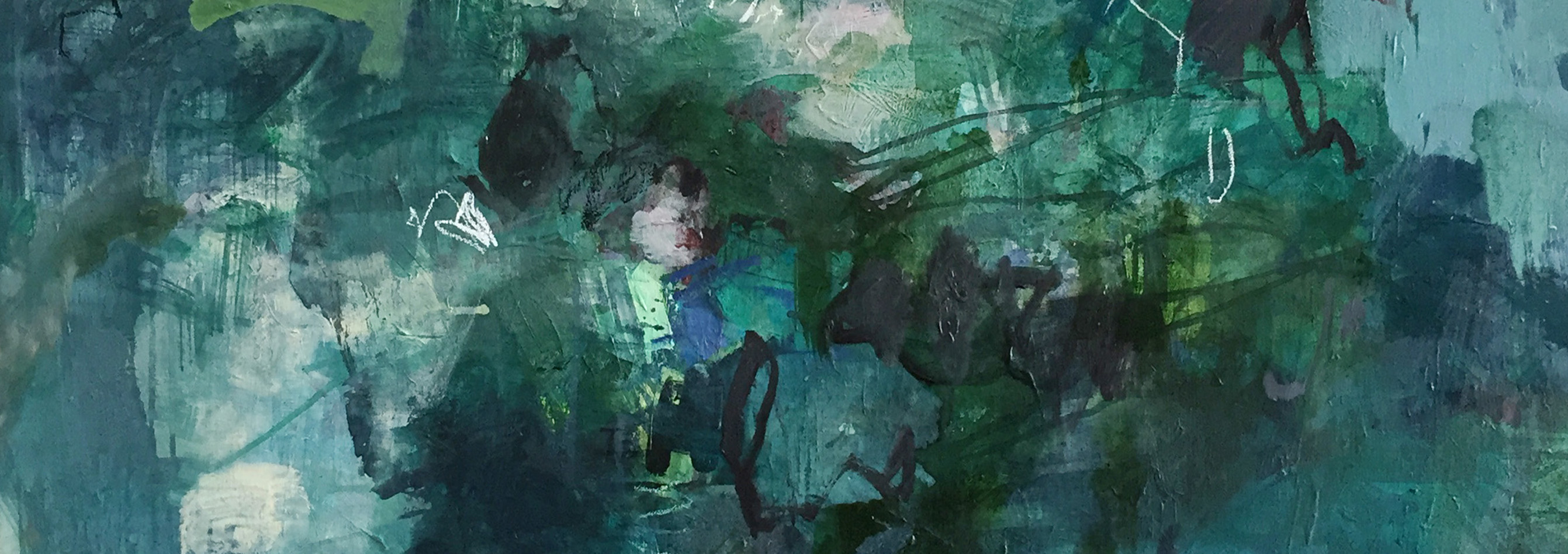 Working as an abstract painter, Kate's works are driven by instinctive and emotional responses to landscape and the energy of human interconnection. Losing herself in a dense subtropical environment and immersing the viewer in the rich and fecund terrain