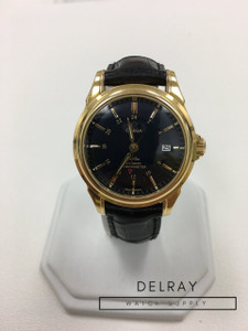 Omega De Ville Co-Axial GMT in Yellow Gold (blue dial)