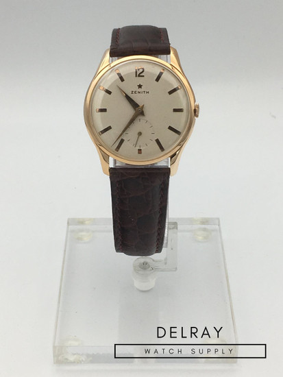 Zenith Manual Wind Vintage Gold Watch