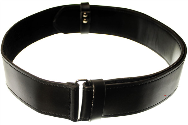 Gents Black Smooth Scottish Kilt Belt In Large