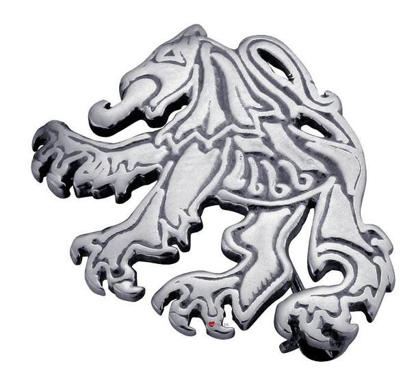 Brooch Sterling Silver Stylised Scottish Lion Rampant Unframed 30mm