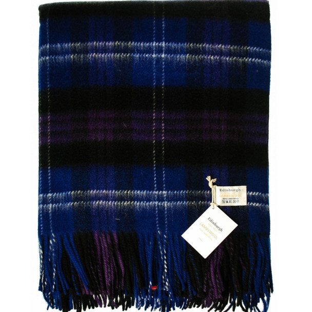 Deluxe Pure Soft Lambswool Blanket-Throw in Heritage of Scotland Tartan 78x 63in