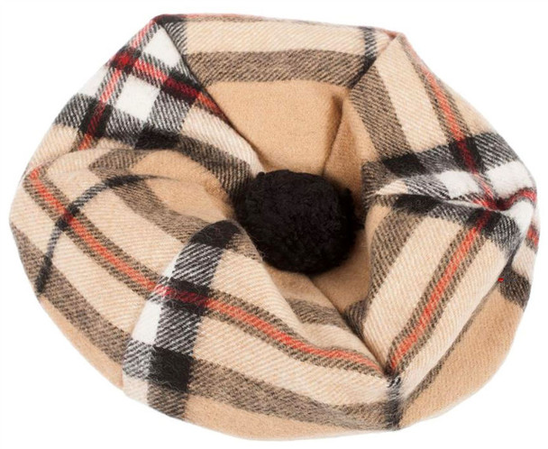 Lambswool Scottish Tammy Hat In Thomson Camel Tartan Design