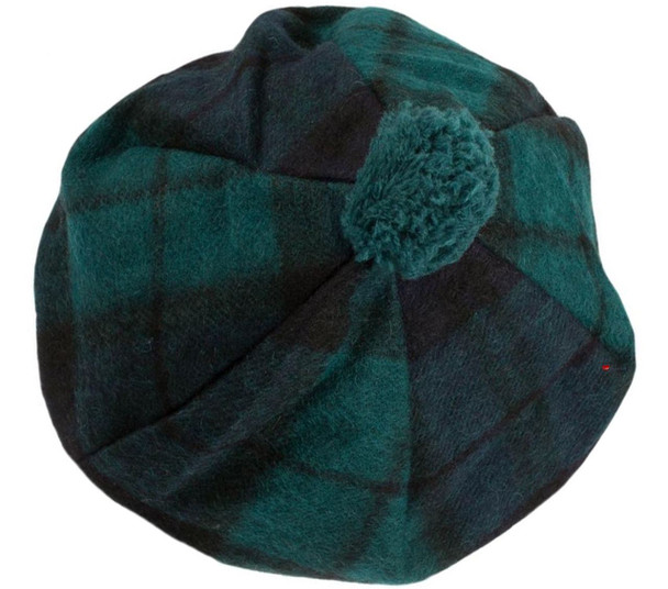 Lambswool Scottish Tammy Hat In Black Watch Tartan Design