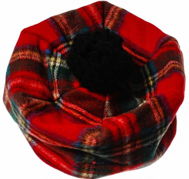 Ladies Lambswool Tammy Hat in Royal Stewart Tartan One Size