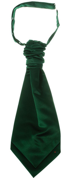 Gents Traditional Scottish Ruche Cravat Satin Tie Wedding Groom Green