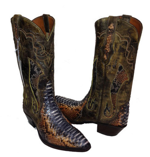 Black Jack Rust Dyed Python Ladies' size 8C