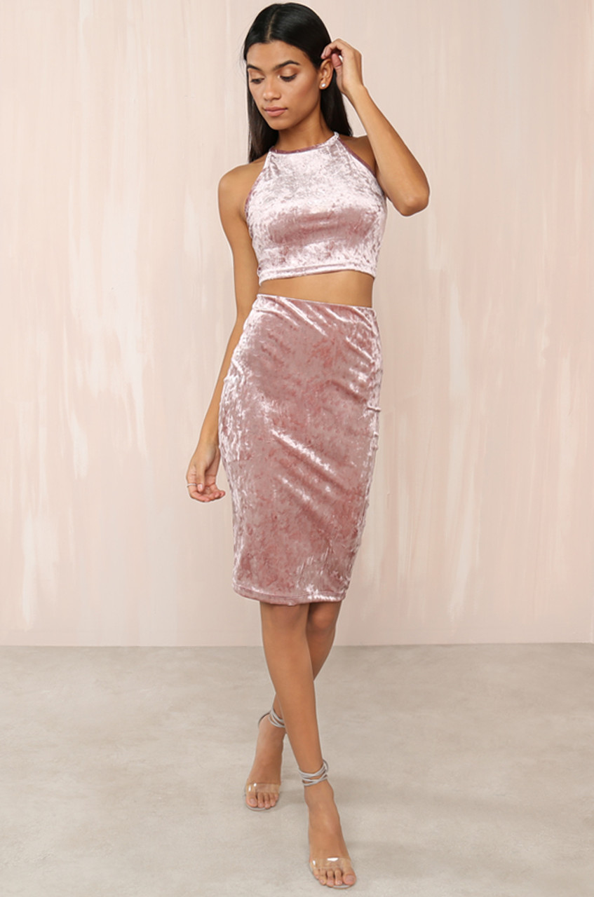 Champagne Velvet Dress