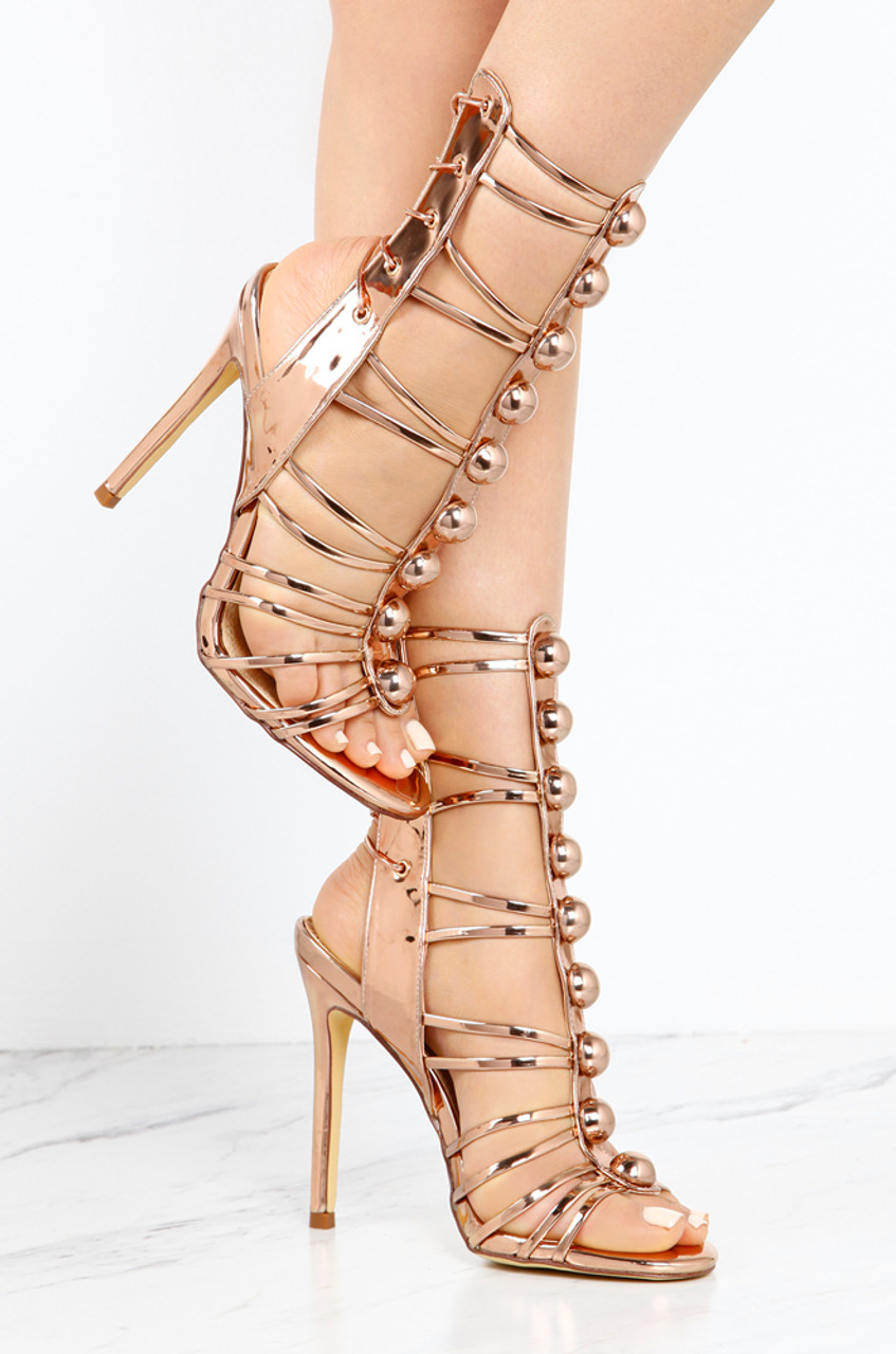 Hot Button - Rose Gold - Lola Shoetique