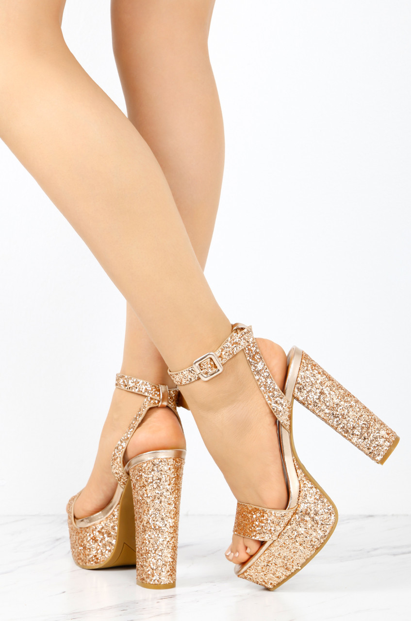 Miss World - Rose Gold Glitter - Lola Shoetique
