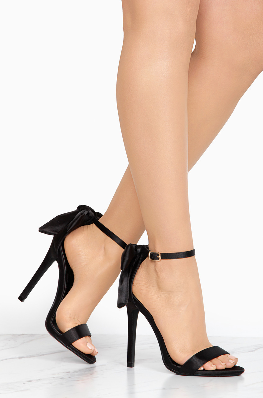 sex & the city - black satin - lola shoetique