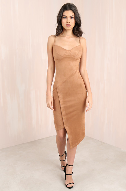 Get Me Bodied Dress - Camel