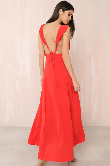 Sunset  Stroll Dress - Red