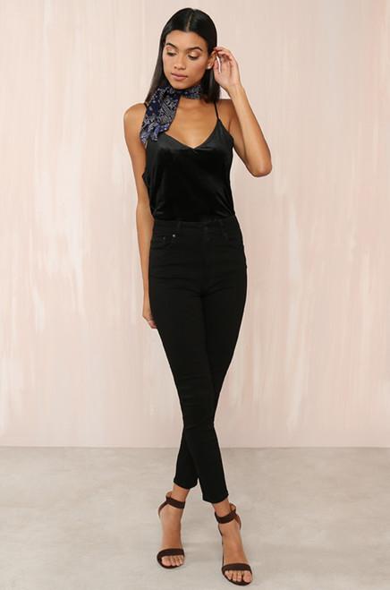 Perfect Fit Top - Black Velvet