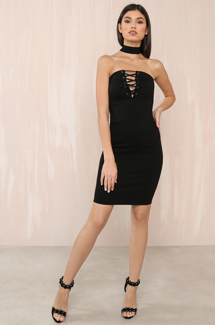 Turn It Up Dress - Black