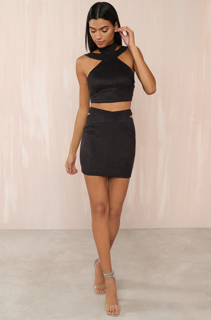 Stop & Stare Co-ord Set - Black