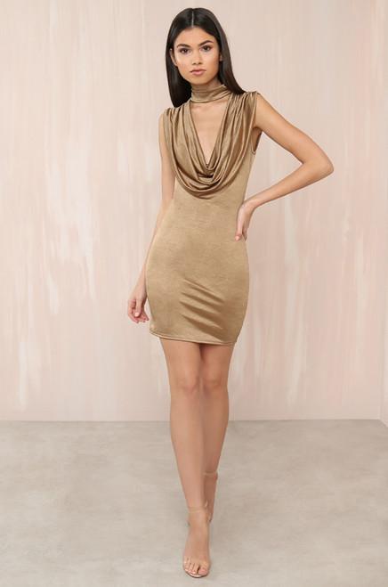 Glow With It Dress - Gold