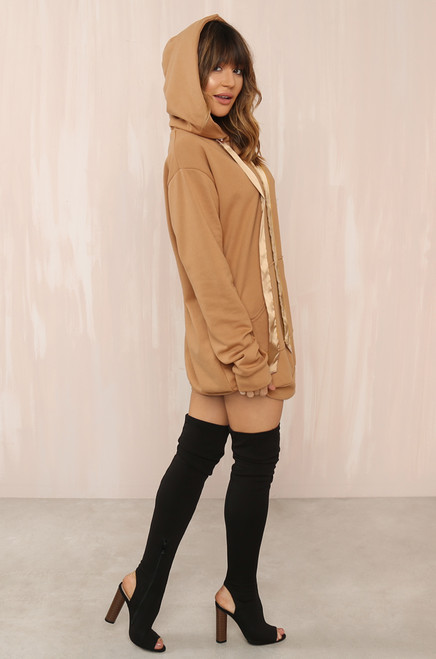 Off-Duty Dress - Camel
