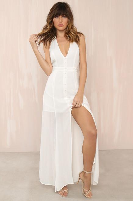Great Lengths Dress - White