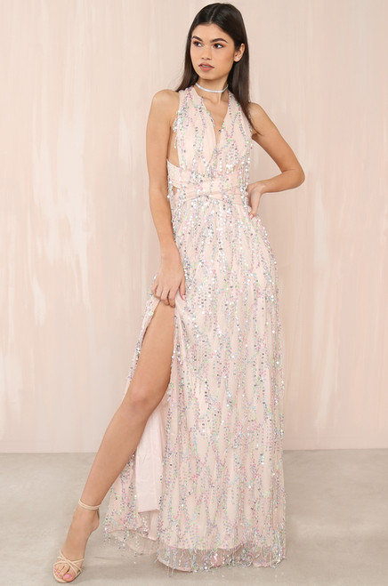 Starry Eyed Dress - Nude