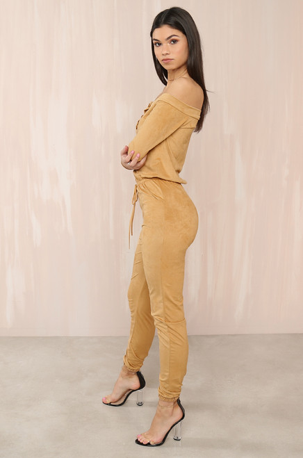 Jump On It Jumpsuit - Nude