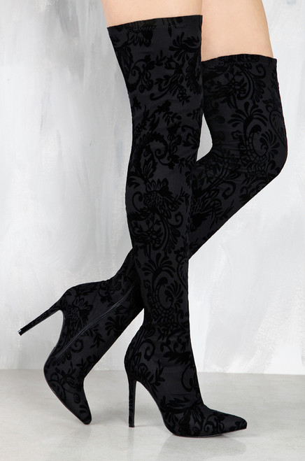 Sultry Touch - Black Floral