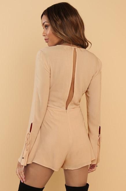 Deep Down Romper - Nude