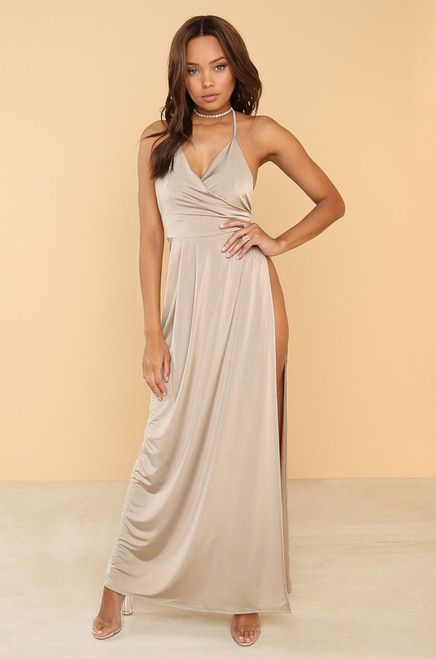 Record High Dress - Desert Taupe